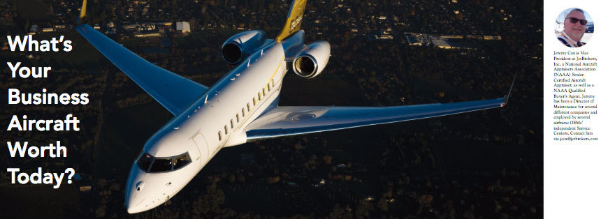 What's Your Business Aircraft Worth Today? article in AvBuyer